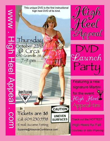 Come and celebrate the launch of my High Heel Appeal DVD!