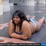plus-sized Los Angeles woman in bikini